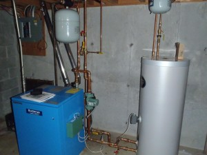 buderus gas boiler indirect water heater